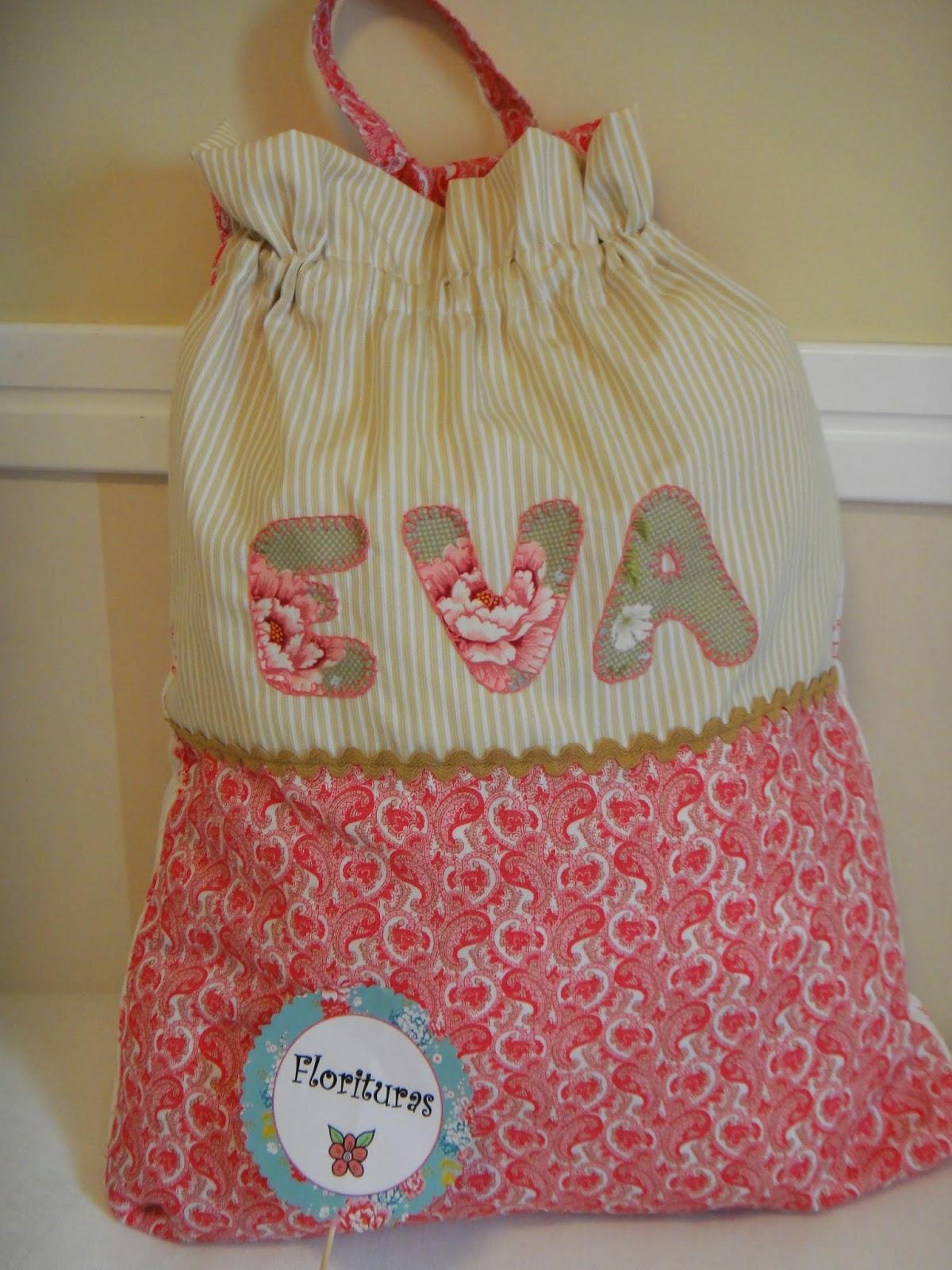Florituras by gara bolsa para ropa sucia o meter juguetes - Bolsas para ropa ...
