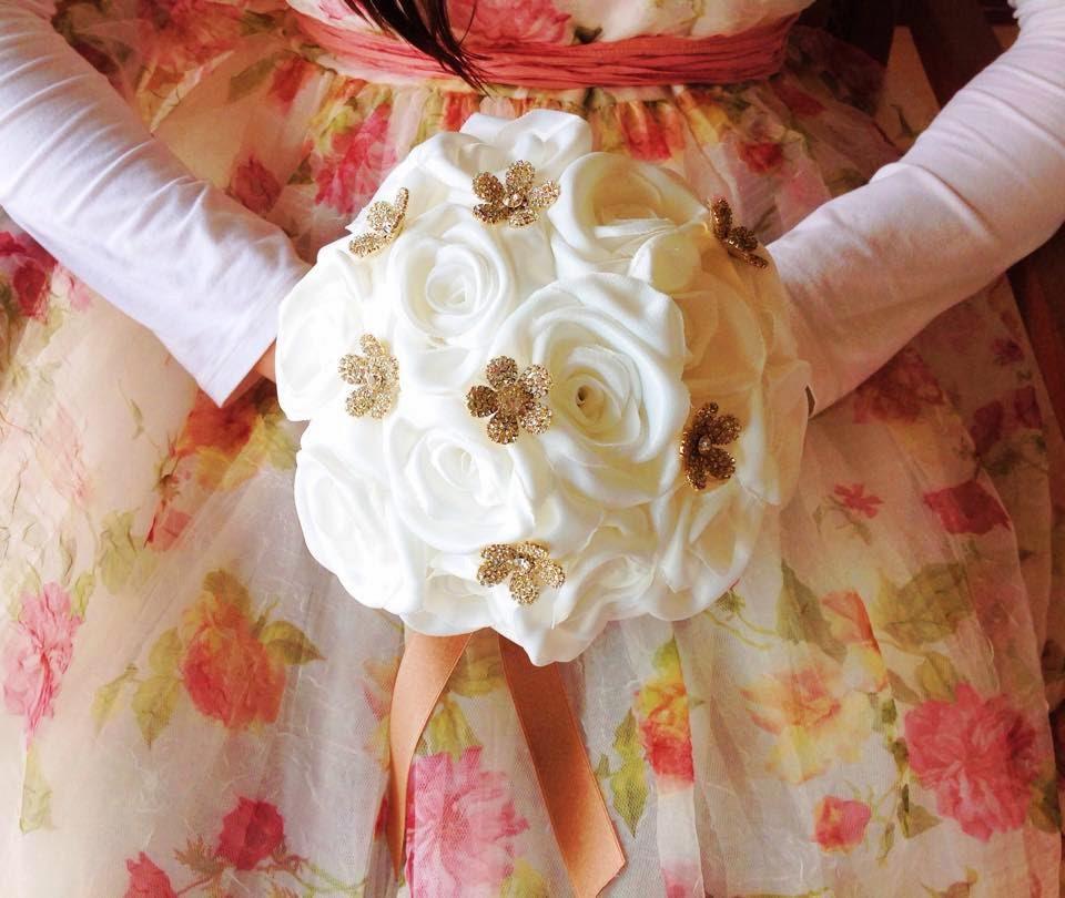 bouquet de noiva dourado