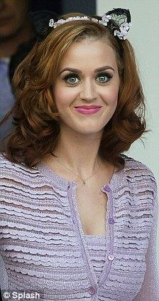 Katy Perry Purr on Katy Perry New Look   Red Haired   Lilac