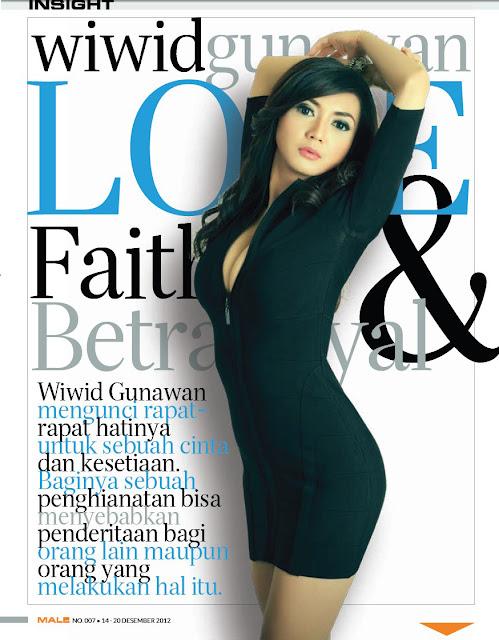 Wiwid Gunawan Cover Majalah Male 015 Foto Artis Payudara Montok Wiwid Gunawan di Majalah Male