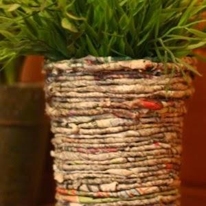 Gratis patroon versiering bloempot