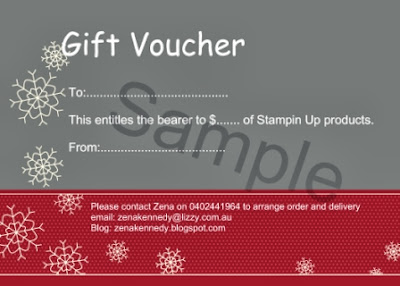Stampin Up gift voucher - Zena Kennedy Independent Demonstrator