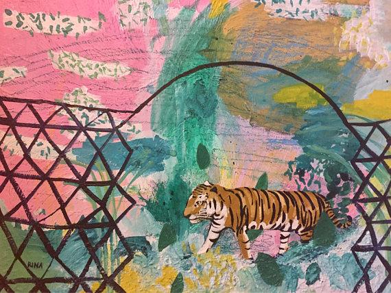 Paintings, Drawings, Linoleum Block Prints, and Zines by Rina Miriam Drescher, Artist