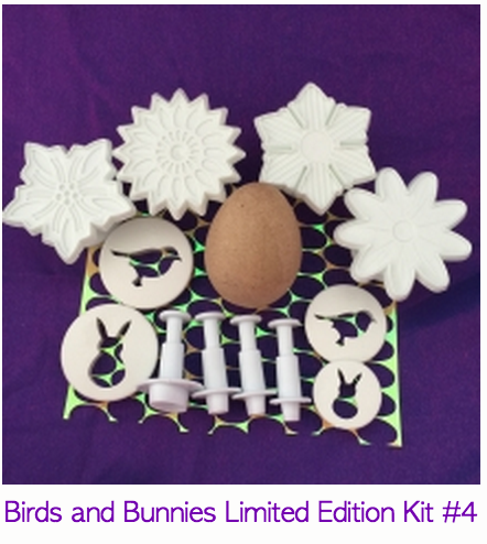 Birds and Bunnies spring project kit for polymer clay