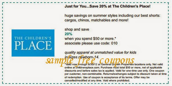 photo regarding Childrens Place Printable Coupon named Childrens issue printable coupon may possibly 2018 / Ultimate second