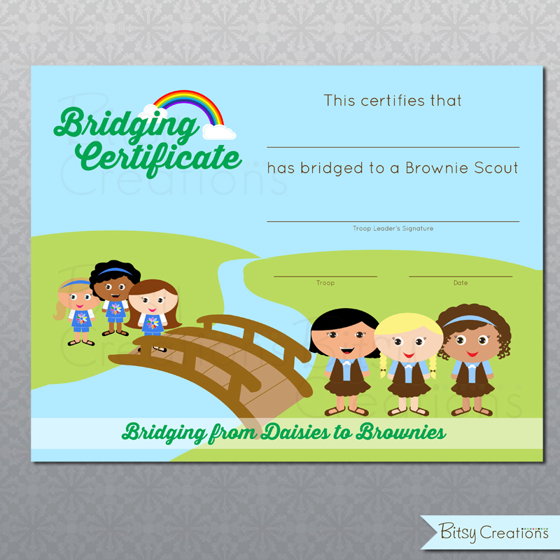 free girl scout bridging certificates | just b.CAUSE