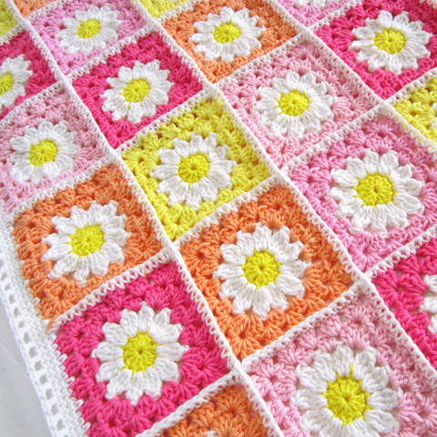 ... tutorial on the daisy travel blanket square flower square vi so here