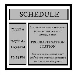procrastination, schedule,