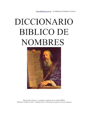 Diccionario Bíblico De Nombres