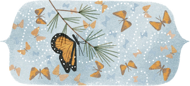 41st Anniversary of the Discovery of the Mountain of the Butterflies - Google Doodle