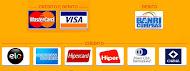 Cartões débito e crédito aceitos: