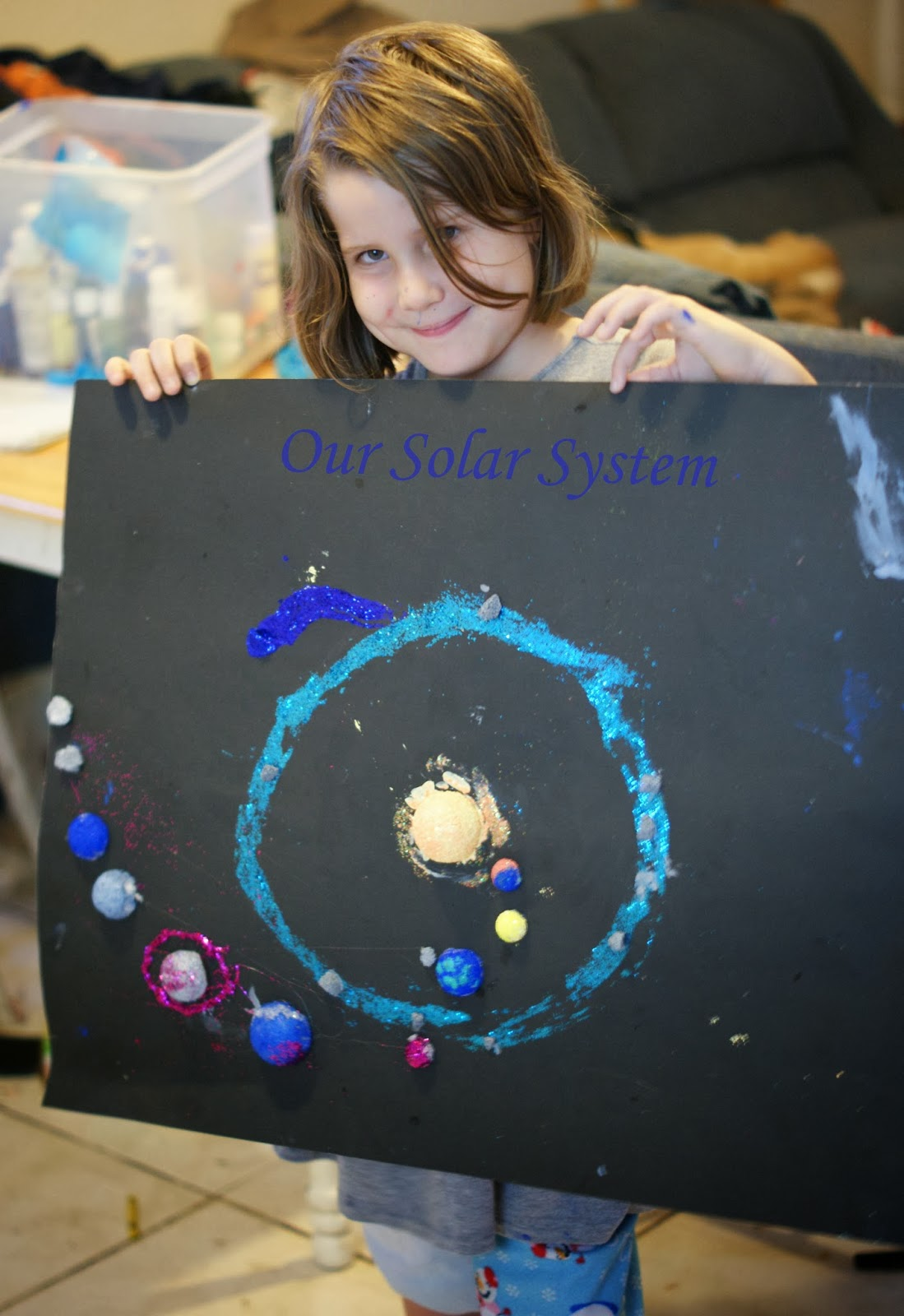 solar system project on posterboard pics about space