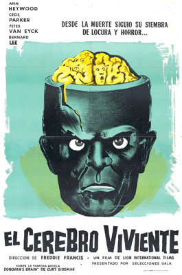 Spanish language poster for The Brain (1962)