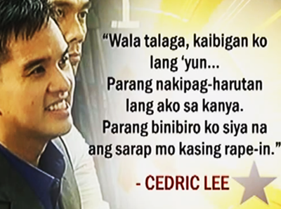 Cedric Lee on Deniece Cornejo kiss