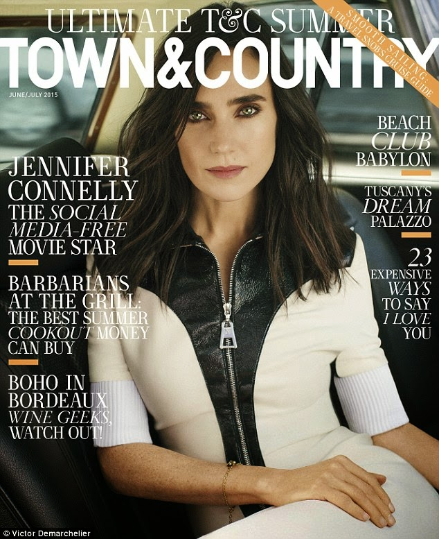 Actress @ Jennifer Connelly for Town & Country June/July 2015