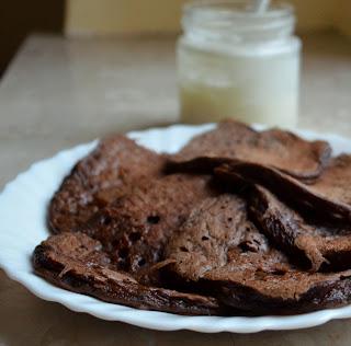 Krem kokosowy i kakaowe pancakes