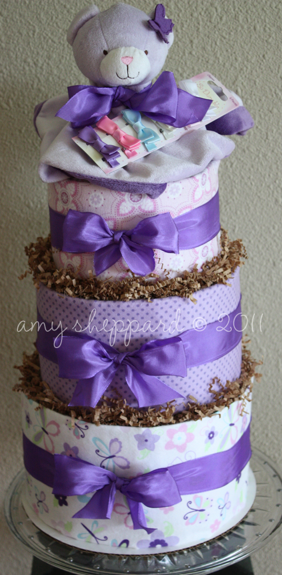 Diaper cake tutorial coffee crafts cupcakes for Diaper crafts for baby shower