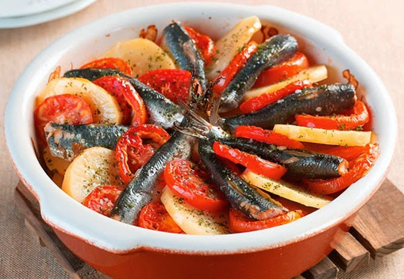 Sardinhas ao forno light