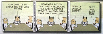 Dilbert Comics meeting with incompetent manager