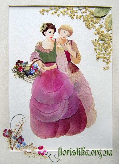 Картина девушка из цветов своими руками