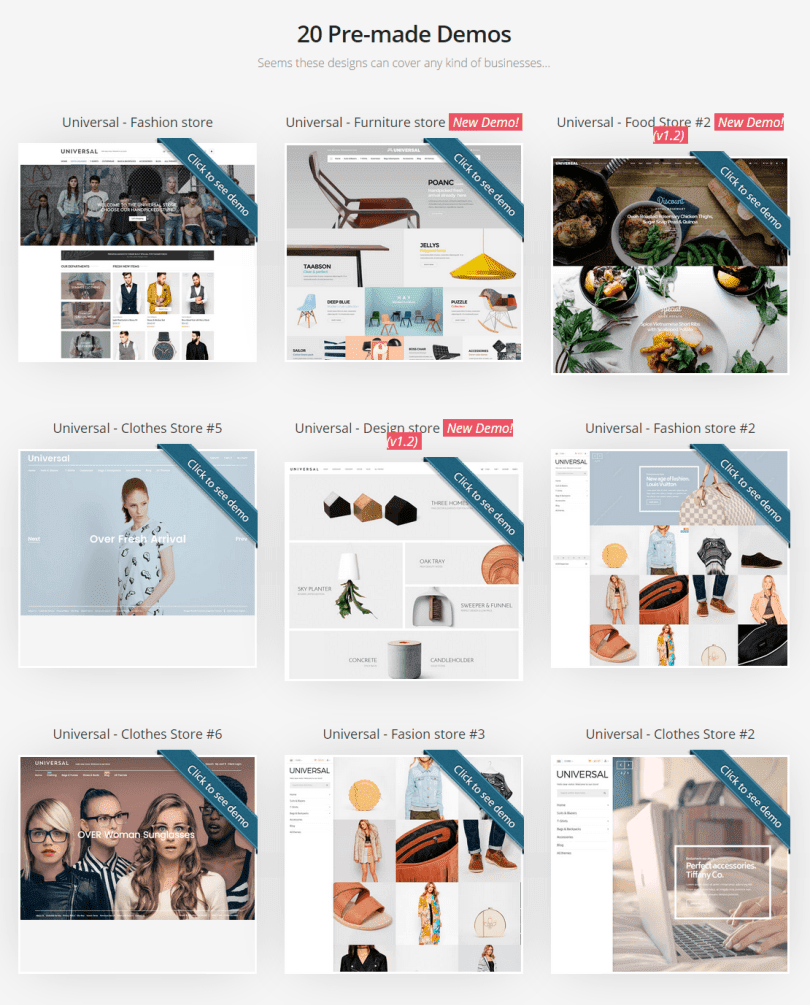 Multi Purpose eCommerce Themes
