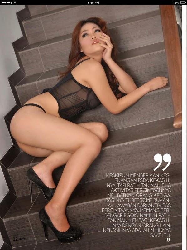Foto Ratih Mauriel di Majalah Gress