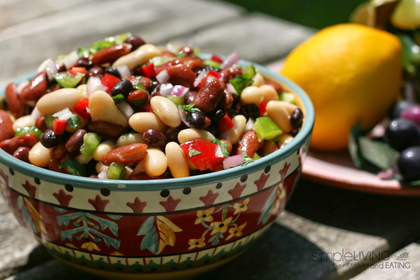 three bean salad: simplelivingeating.com