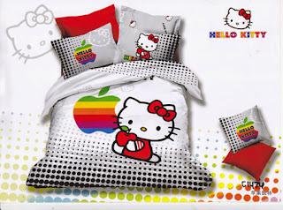 Sprei Katun Jepang Hello Kitty
