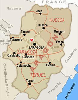 Mapa de Aragón Imagen