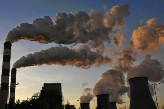Smoke billows from the chimneys of Bełchatów, Poland, Power Station, Europe's largest coal-fired power plant.  (Credit: Reuters/Kacper Pempel) Click to enlarge.