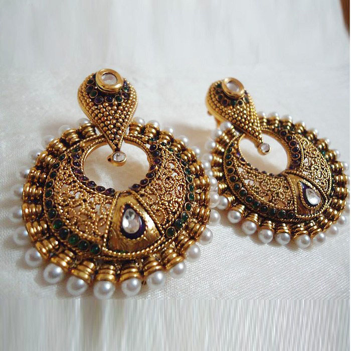 Luxury Gold Earrings For Women Indian Indian Gold Earrings Designs With Price