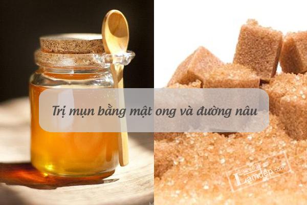 1.Cách trị mụn trứng cá bằng mật ong và đường