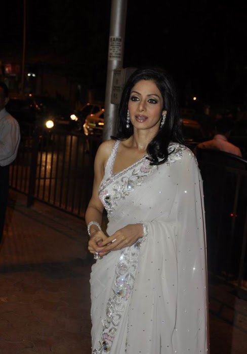 sridevi kapoor in transparent saree latest photos