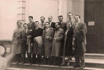 Jugadores del Club Ajedrez Barcelona en 1956 en El Vendrell