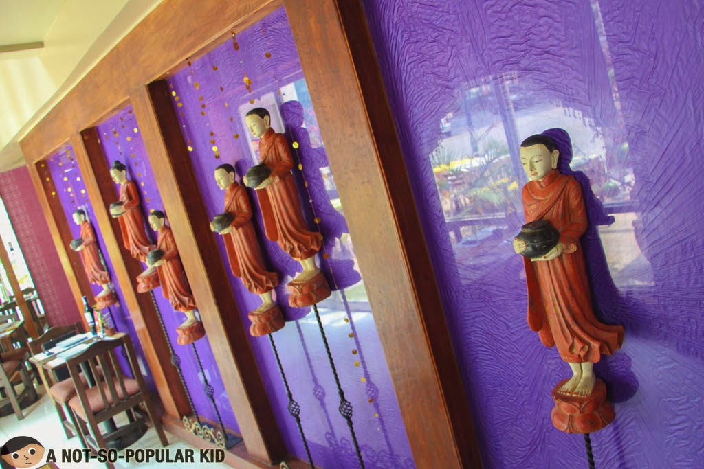 Thai-inspired interior of Just Thai Restaurant in Burgos Circle