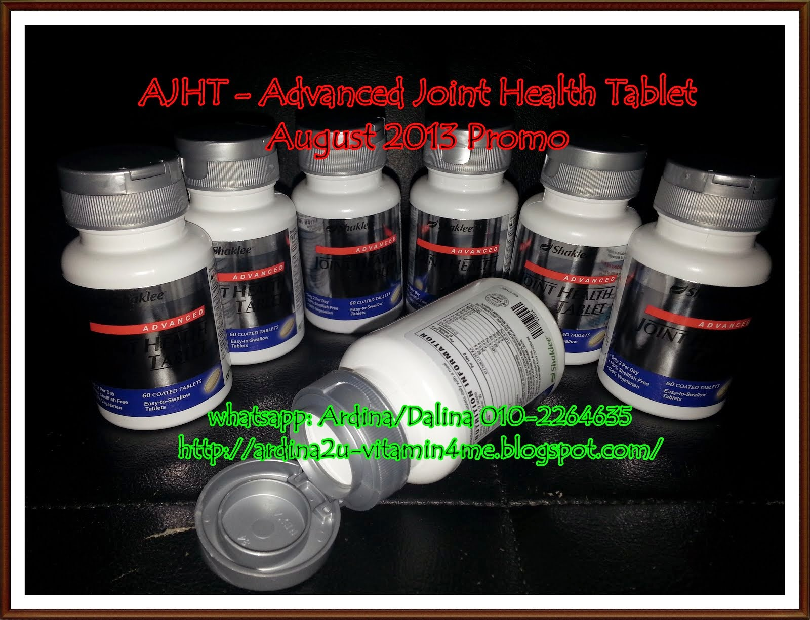 AJHT - Advanced Joint Health Tablet untuk Sendi dan Tulang.