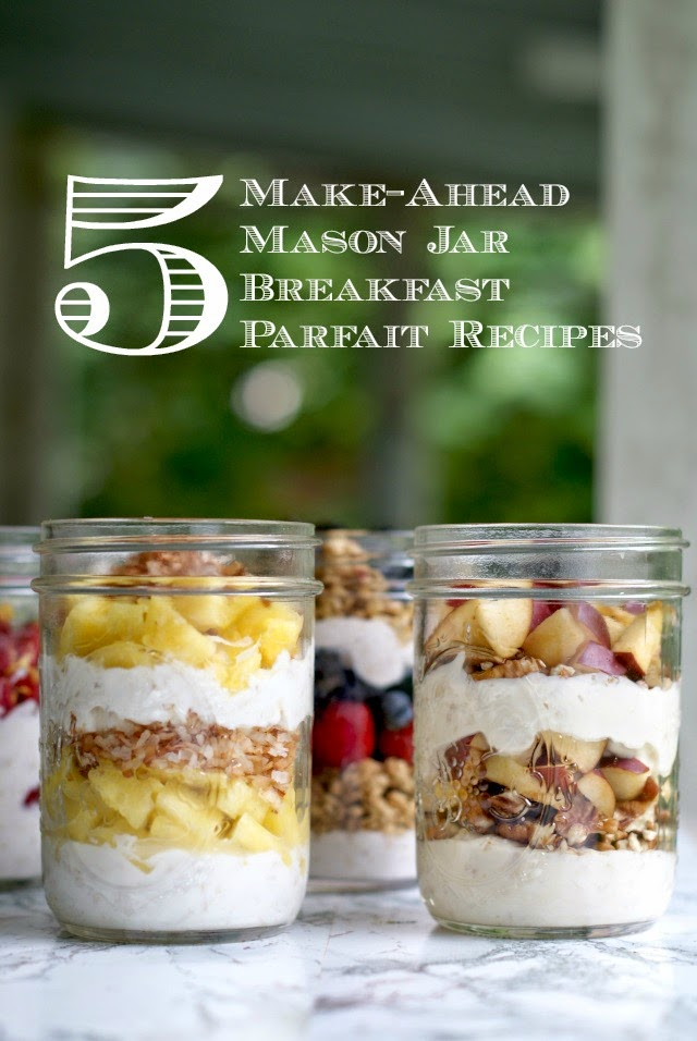 5 Make-Ahead Mason Jar Breakfast Parfait Recipes {with Publix Liberté Yogurt + Cash Giveaway} | thetwobiteclub.com | #yogurtperfection #makeahead #healthy #ad
