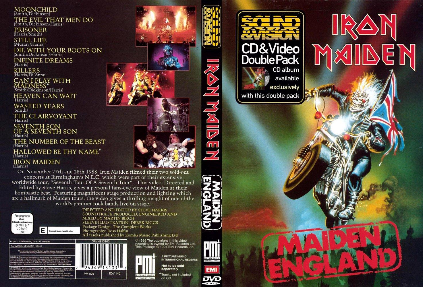 """1989 schoben IRON MAIDEN das VHS Video """"Maiden England"""" auf den Markt. In einer kleineren Auflage lag der VHS Cassette noch die Live CD bei, ..."""