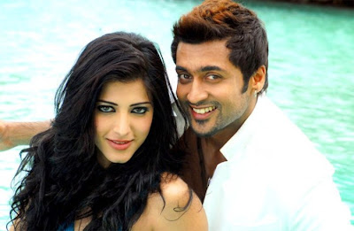 Picture of Actress Sruthi Hassan and Surya from 7aam Arivu Tamil Movie