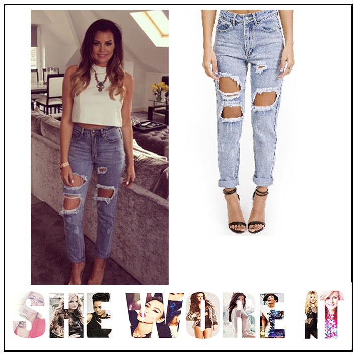Boyfriend, Forever Modo, Hammassa, Jeans, Jessica Wright, Pale Blue, Ripped, Rolled Hem, The Only Way Is Essex, TOWIE,