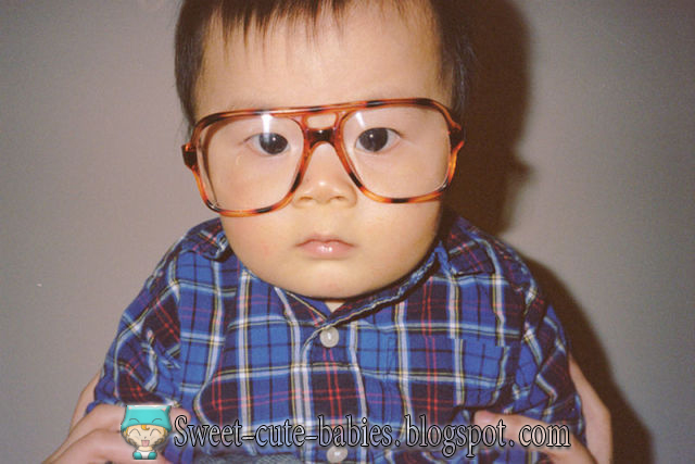 boy, glasses, asian, baby