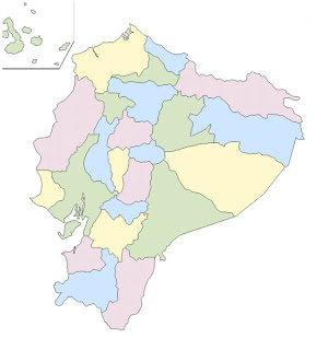 mapa ecuador mudo