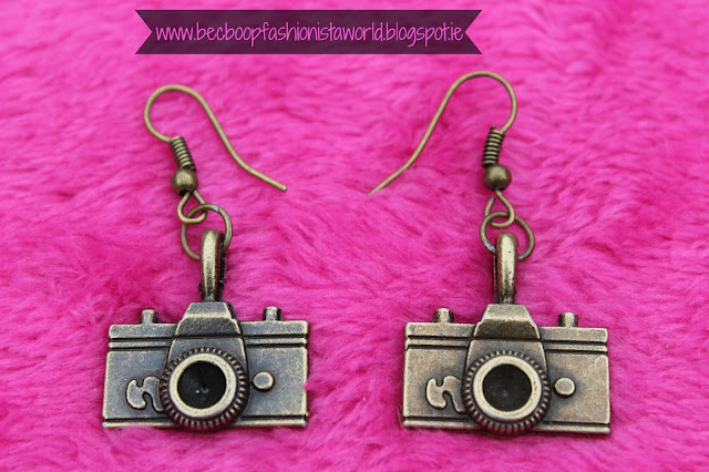 August Thrift Finds Pandoras Box Galway Camera earrings
