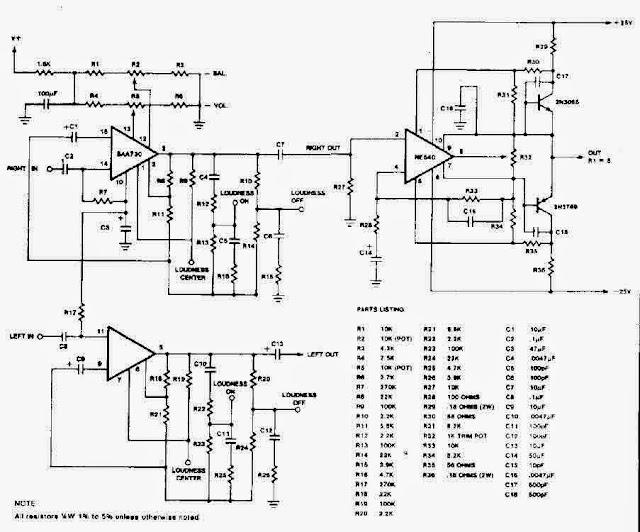 amplifiercircuits com  audio preamplifier