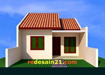 Desain Rumah Type 48 untk luas tanah 72 m2 - depan