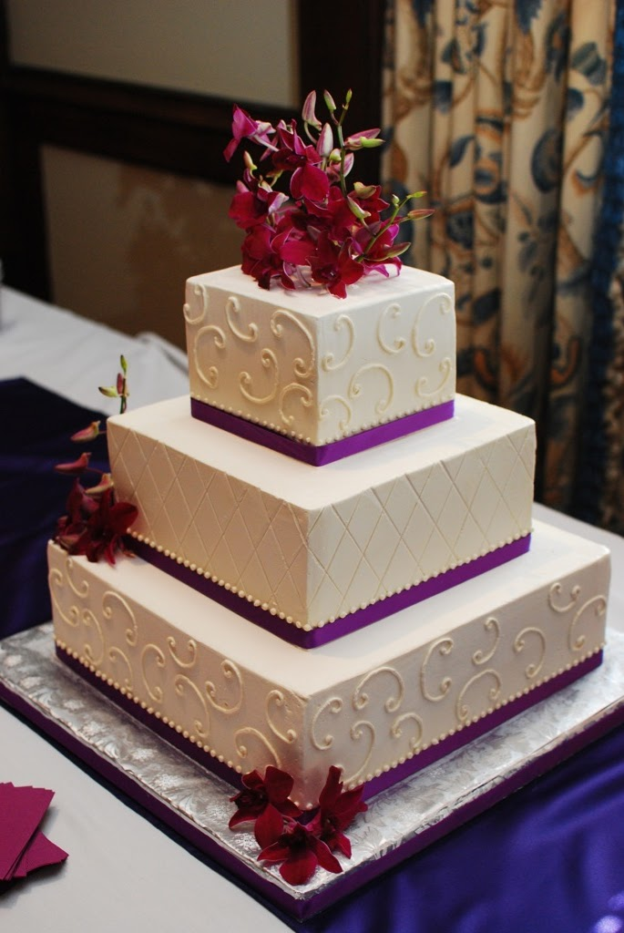 Purple Orchid Wedding Cake I Delivered This To A Church In Downtown Chattanooga Of Weeks Ago When We Walked The Reception All Were