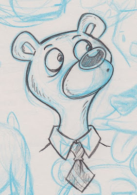 Danny Moore Illustrations Bear in a Tie