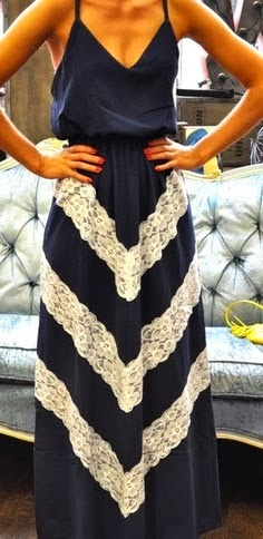 Amazing Cool Navy Blue Lace Maxi for Stylish Ladies