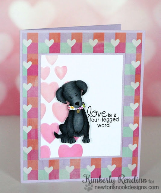 Fetching Friendship card by Kimberly Rendino | Newton's Nook Designs | labrador |