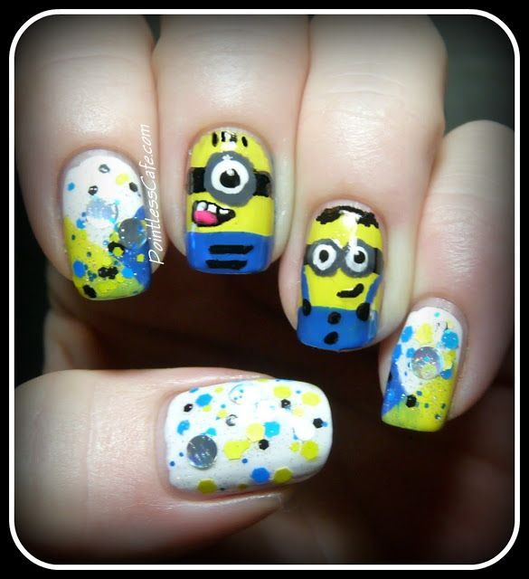 Minion-Nail-Art-cartoon